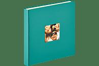 WALTHER Selbstklebealbum Fun Fotoalbum, 50 Seiten, Strukturpapier, Petrolgrün