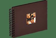 WALTHER Spiralalbum Fun Fotoalbum, 40 Seiten, Strukturpapier, Dunkelbraun