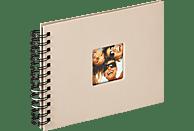WALTHER Spiralalbum Fun Fotoalbum, 40 Seiten, Strukturpapier, Sand