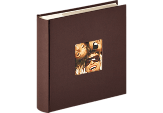 WALTHER Memo-Album Fun Fotoalbum, 100 Seiten, Strukturpapier, Dunkelbraun