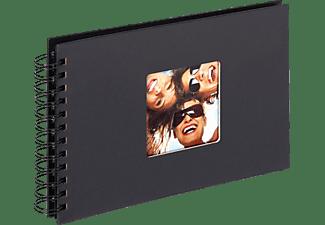 WALTHER Spiralalbum Fun Fotoalbum, 40 Seiten, Strukturpapier, Schwarz