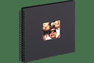 WALTHER Spiralalbum Fun Fotoalbum, 50 Seiten, Strukturpapier, Schwarz