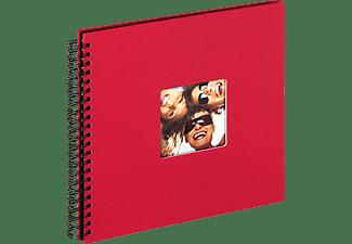WALTHER Spiralalbum Fun Fotoalbum, 50 Seiten, Strukturpapier, Rot