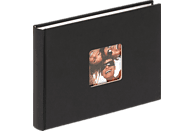 WALTHER Designalbum Fun Fotoalbum, 40 Seiten, Strukturpapier, Schwarz