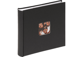 WALTHER Memo-Album Fun Fotoalbum, 100 Seiten, Strukturpapier, Schwarz