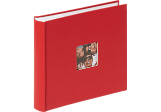 WALTHER Memo-Album Fun Fotoalbum, 100 Seiten, Strukturpapier, Rot
