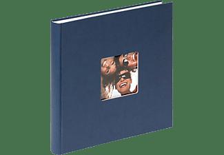 WALTHER Designalbum Fun Fotoalbum, 40 Seiten, Strukturpapier, Blau