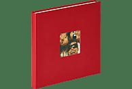 WALTHER Designalbum Fun Fotoalbum, 40 Seiten, Strukturpapier, Rot