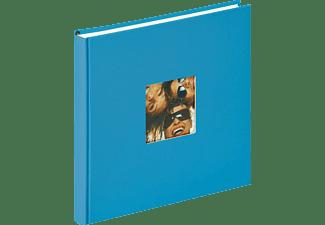 WALTHER Designalbum Fun Fotoalbum, 40 Seiten, Strukturpapier, Oceanblau