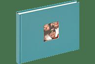 WALTHER Designalbum Fun Fotoalbum, 40 Seiten, Strukturpapier, Petrolgrün