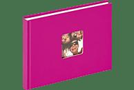 WALTHER Designalbum Fun Fotoalbum, 40 Seiten, Strukturpapier, Pink