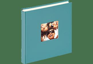 WALTHER Designalbum Fun Fotoalbum, 100 Seiten, Strukturpapier, Petrolgrün