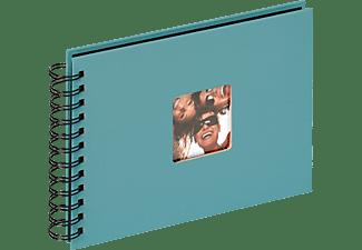 WALTHER Spiralalbum Fun Fotoalbum, 40 Seiten, Strukturpapier, Petrolgrün