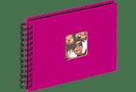 WALTHER Spiralalbum Fun Fotoalbum, 40 Seiten, Strukturpapier, Pink