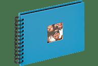 WALTHER Spiralalbum Fun Fotoalbum, 40 Seiten, Strukturpapier, Oceanblau