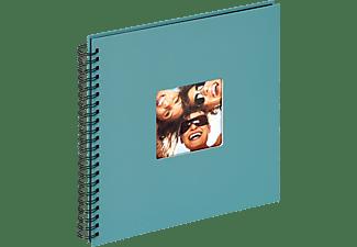 WALTHER Spiralalbum Fun Fotoalbum, 50 Seiten, Strukturpapier, Petrolgrün