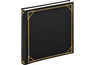 WALTHER Classicalbum Standard Fotoalbum, 100 Seiten, Kunstleder, Schwarz