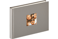 WALTHER Designalbum Fun Fotoalbum, 40 Seiten, Strukturpapier, Grau