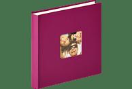 WALTHER Designalbum Fun Fotoalbum, 100 Seiten, Strukturpapier, Violett