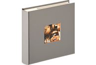 WALTHER Memo-Album Fun Fotoalbum, 100 Seiten, Strukturpapier, Grau