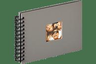 WALTHER Spiralalbum Fun Fotoalbum, 40 Seiten, Strukturpapier, Grau