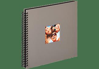 WALTHER Spiralalbum Fun Fotoalbum, 50 Seiten, Strukturpapier, Grau
