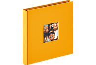WALTHER Designalbum Fun Fotoalbum, 30 Seiten, Strukturpapier, Maisgelb
