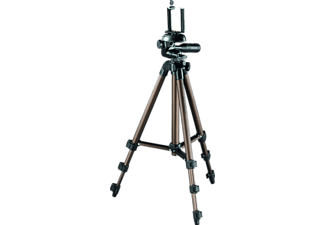 ISY IPT-1065 Dreibein Stativ, Schwarz/Braun, Höhe offen bis 1065 mm