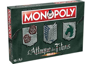 WINNING MOVES Monopoly : L'Attaque des Titans (francese) - Gioco da tavolo (Multicolore)
