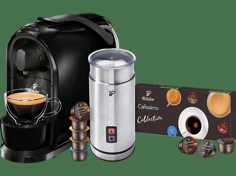 TCHIBO CAFISSIMO Pure + Milchaufschäumer + 8 Kapseln
