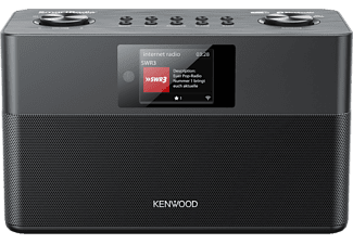 KENWOOD. Smart-Radio CRST100SB mit DAB+, Internetradio, UKW, Bluetooth, USB, Farbdisplay, schwarz