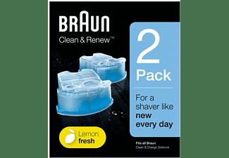 Cartuchos De Recarga - Braun Clean&Renew, Cartuchos De Recarga Para Afeitadora Eléctrica Hombre, 2 Unidades