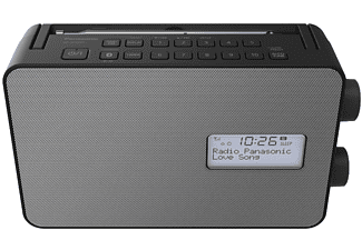PANASONIC RF-D30BTEG-K DAB+ Radio mit Bluetooth, DAB+ Tuner/ Analog Tuner, FM, DAB+, Bluetooth, Schwarz/Silber