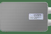 PANASONIC RF-D30BTEG-W DAB+ Radio mit Bluetooth, DAB+ Tuner/ Analog Tuner, FM, DAB+, Bluetooth, Weiß/Silber