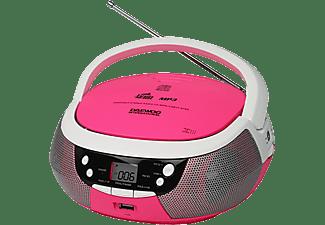 Radio CD - Daewoo DBU-59 KARAOKE, Micrófono con cable, USB, Radio FM/AM, Rosa