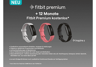 FITBIT Inspire 2, Fitnesstracker, S, L, Schwarz/Schwarz