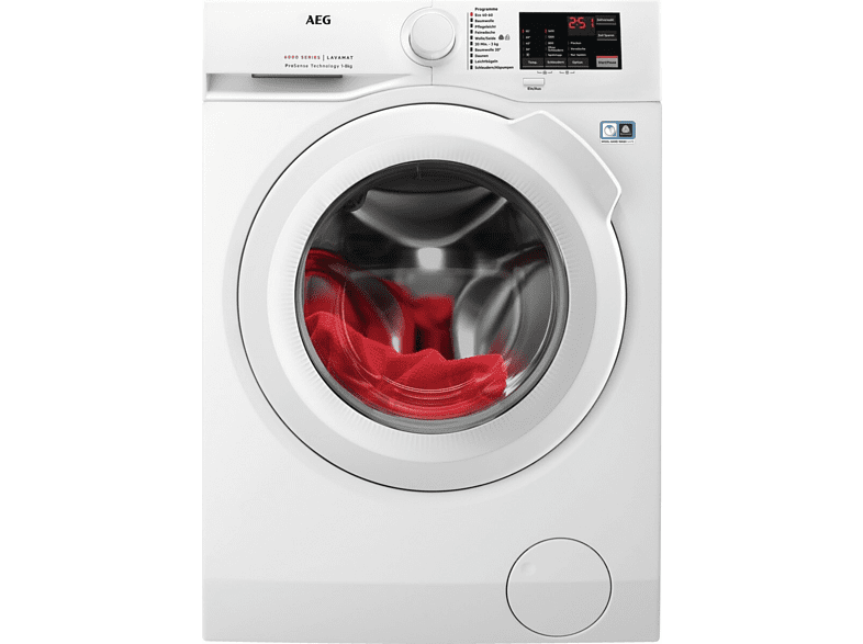 AEG L6FBA5680 Waschmaschine 8 kg, 1600 U Min., D