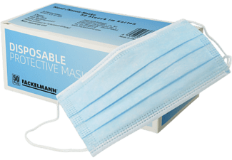 FACKELMANN Einweg Mund-Nasen-Maske, 3-schichtig, 50 Stück