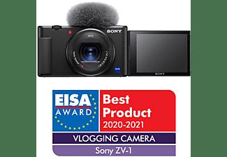Cámara Compacta - Sony VLOG ZV-1, Video 4K, Zoom 2.7x, Bluetooth, Micrófono, Negro