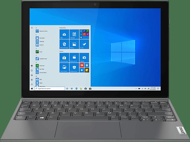 LENOVO IdeaPad Duet 3i, Convertible mit 10,3 Zoll Display, Celeron Prozessor, 4 GB RAM, 64 eMMC, Intel UHD Grafik 600, Graphitgrau