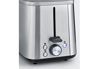 SEVERIN AT 2513 Toaster Edelstahl-gebürstet/Schwarz (1600 Watt, Schlitze: 2)
