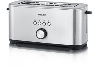 SEVERIN AT 2512 Toaster Edelstahl-gebürstet/Schwarz (1400 Watt, Schlitze: 2)