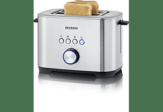 SEVERIN AT 2510 Toaster Edelstahl-gebürstet/Schwarz (800 Watt, Schlitze: 2)