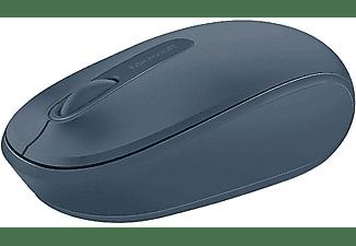 Ratón inalámbrico - Microsoft Wireless Mobile Mouse 1850, Azul, Nano transceptor Plug-and-go, Azul