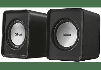 Altavoces para PC - Trust Leto, 6W, negro, 2.0, diseño compacto
