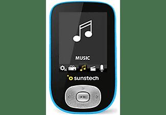 Reproductor MP3 - Sunstech SKYBT4GBBL, 4 GB, 20h Autonomía, MP4 y MP5, Bluetooth, Radio FM, Negro-Azul