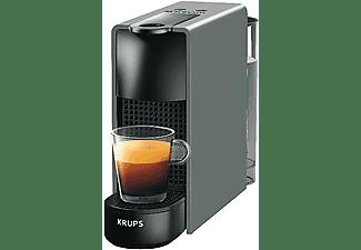 Cafetera de cápsulas - Nespresso® Krups XN110B Essenza Mini, 19 bares, Gris