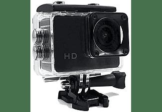 Cámara Deportiva - SK8 CAM HD 720P, Sumergible, Formato AVI, Micro USB, Negra