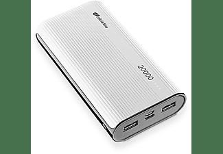 Powerbank - Cellular Line FREEPPT20USBCW, Para smartphone o tablet, USB, MicroUSB, USB-C, Blanco