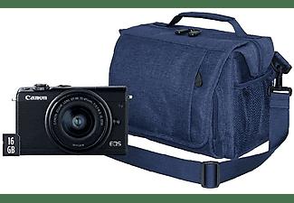 Pack Cámara EVIL - Canon EOS M100, 24.2MP FHD Negro + EF-M 15-45mm f/3.5-6.3 IS STM + Bolsa + Tarjeta SD 16GB